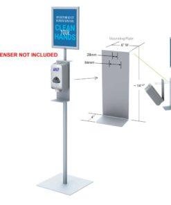 Hand Sanitizer Dispenser Stand 48″ high with Frame