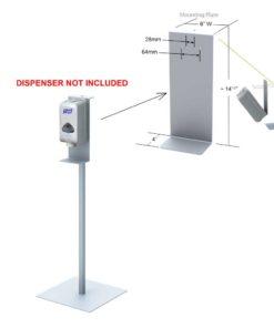 Hand Sanitizer Dispenser Stand 48″ high
