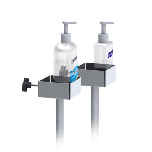 Hand Sanitizer Dispenser Stand Use