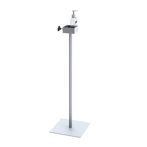 Hand Sanitizer Dispenser Stand Silver